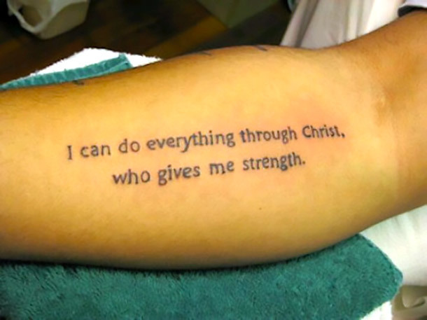 I Can Do Everything Through Christ Tattoo Idea