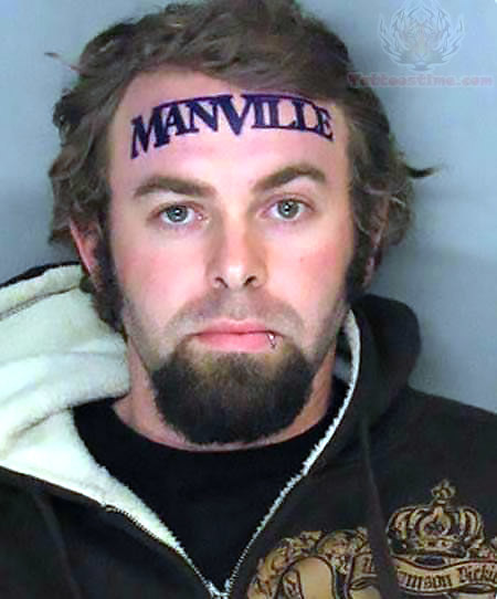 ManVille forehead Tattoo Idea