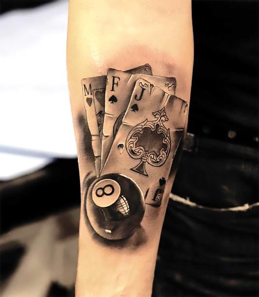 M F J Eight Ball Tattoo Idea