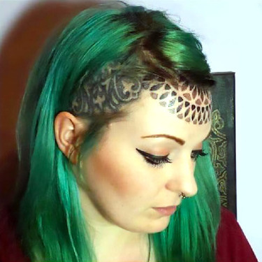 Nice Forehead Tattoo For Girls Tattoo
