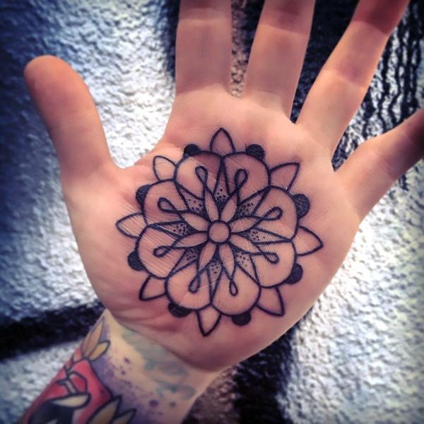 Palm Mandala Tattoo Idea