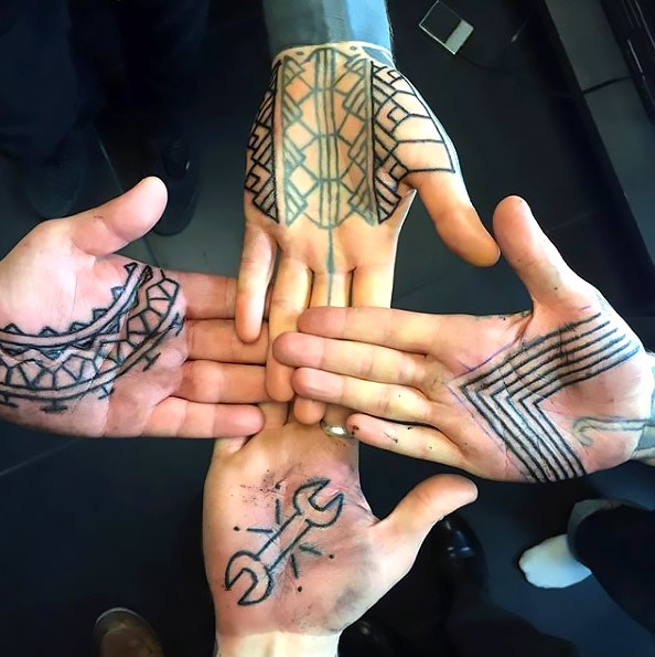 Palm Tattoos for Brothers Tattoo Idea