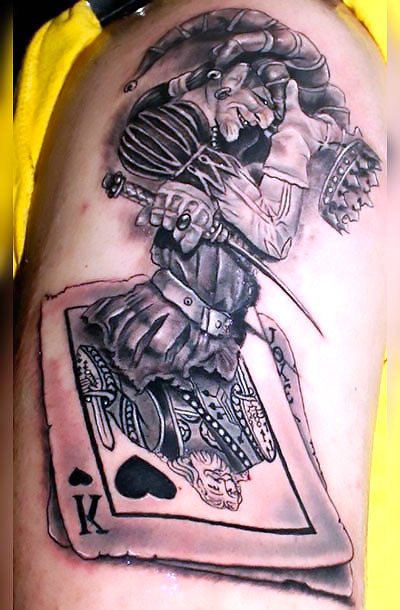 Playing Card Joker Tattoo Idea