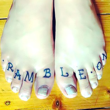 Rample On Toe Tattoo
