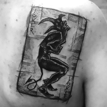 Sketch Style Joker Tattoo