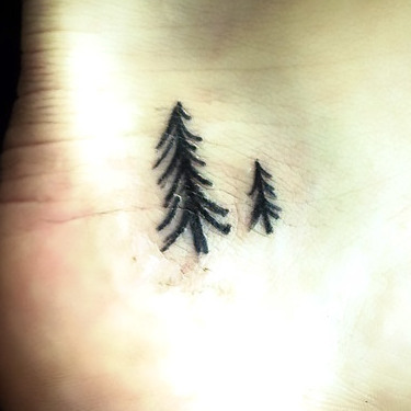 Small Tree Tattoo on Heel Tattoo