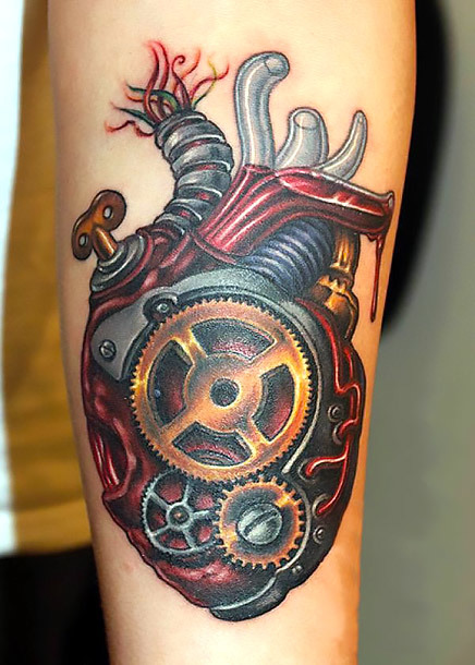 Steampunk Heart Tattoo Idea
