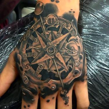 Steampunk Tattoo on Hand for Men Tattoo