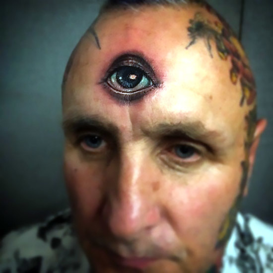 Third Eye forehead Tattoo Idea