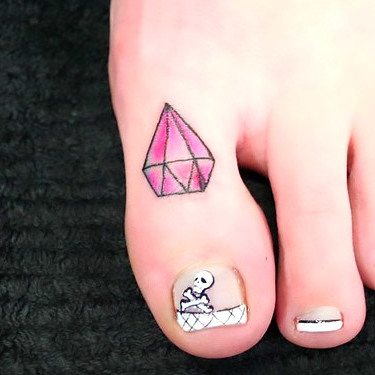 Toe Diamond Tattoo