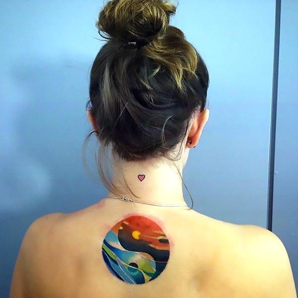 Yin Yang Fire and Water Tattoo Idea