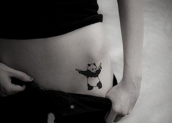 Gangsta Panda Bear Tattoo Idea