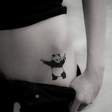 Gangsta Panda Bear Tattoo