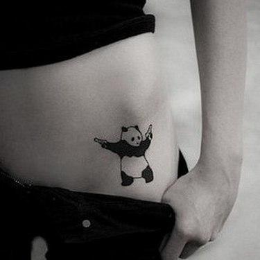 Gangsta Panda Bear Tattoo