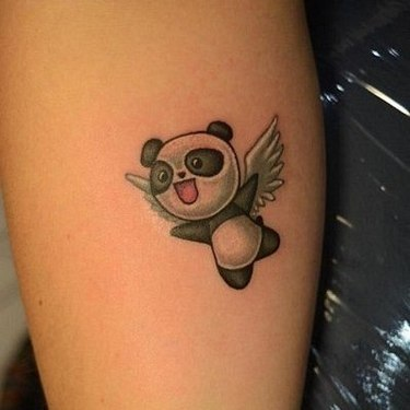 Panda Bear With Wings Tattoo