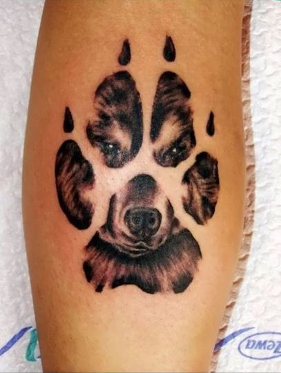 Paw of Bear Tattoo Idea