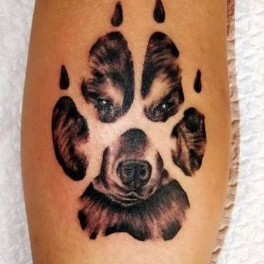 Paw of Bear Tattoo