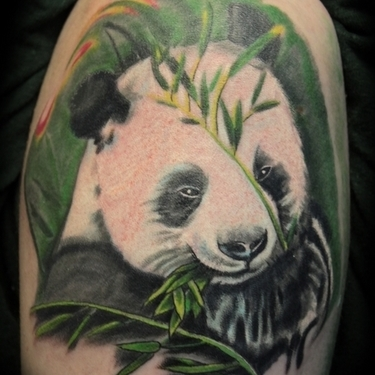 White Panda Bear Tattoo Design Tattoo