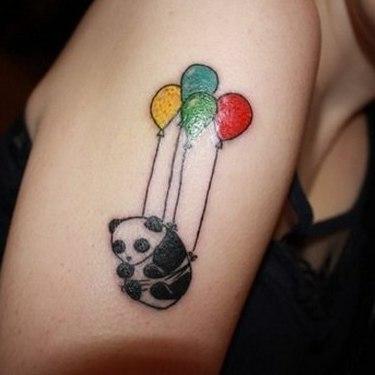 Panda Bear Flying Tattoo