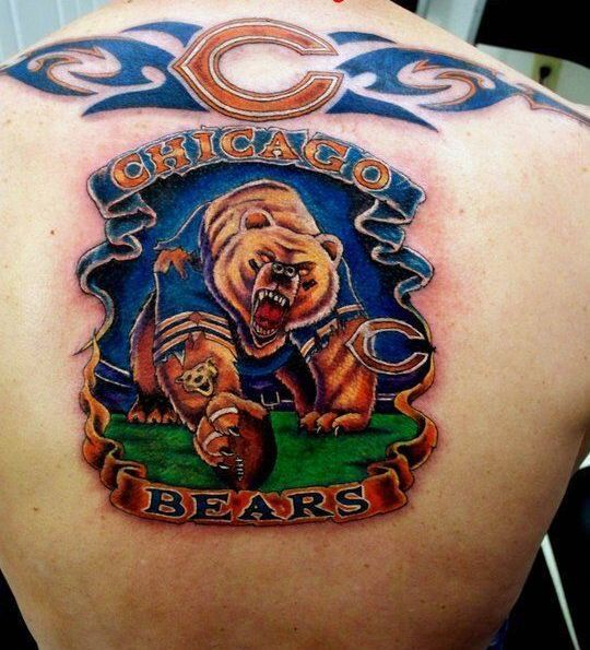 Chicago Bears on The Back Tattoo Idea