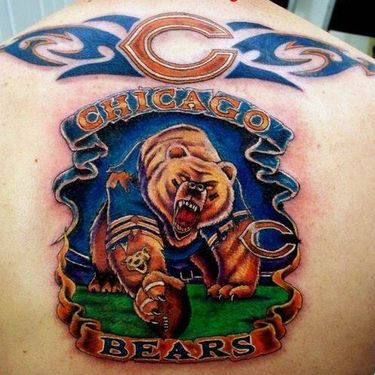 Chicago Bears on The Back Tattoo