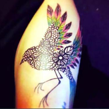 Beautiful Bird Tattoo