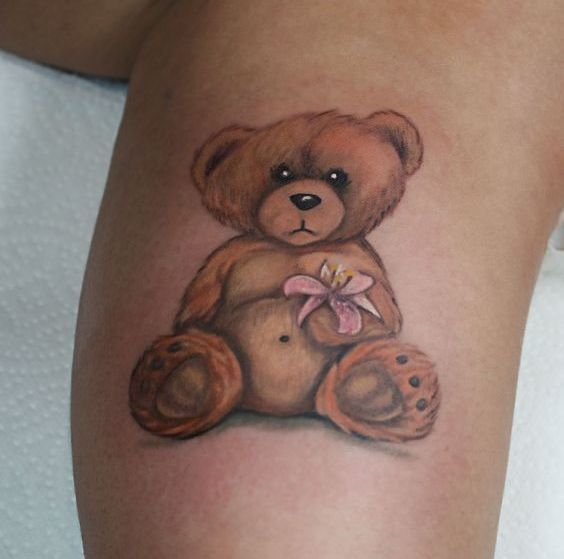 Cute Teddy Bear Tattoo Idea