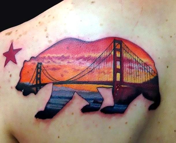 Bear San Francisco Tattoo Idea