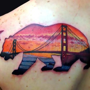 Bear San Francisco Tattoo