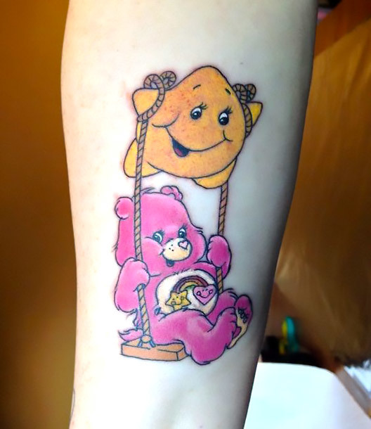 Care Bear With Star Tattoo Idea