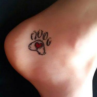 Animal Print Heart Tattoo