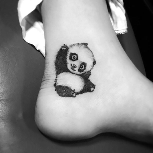Funny Panda Bear Tattoo Idea