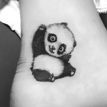 Funny Panda Bear Tattoo
