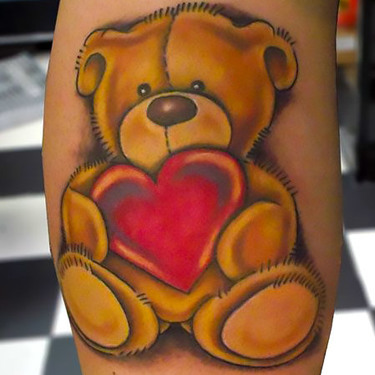 Heart Teddy Bear Tattoo