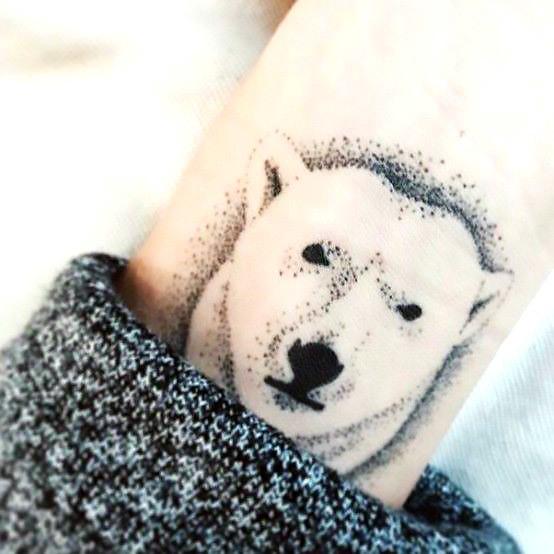 Little Polar Bear Tattoo Idea