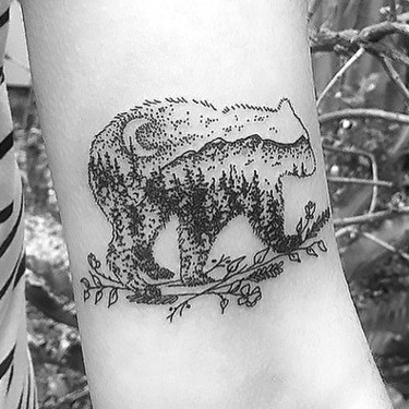 Nature Inside The Bear Tattoo