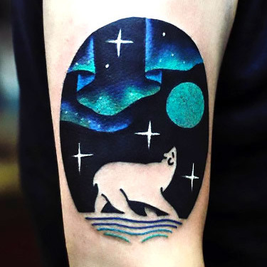 Polar Bear Night Tattoo