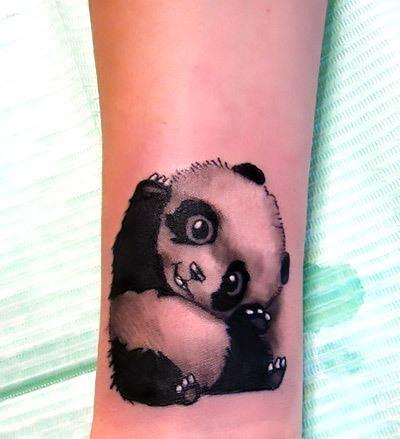 Pretty Little Panda Bear Tattoo Idea
