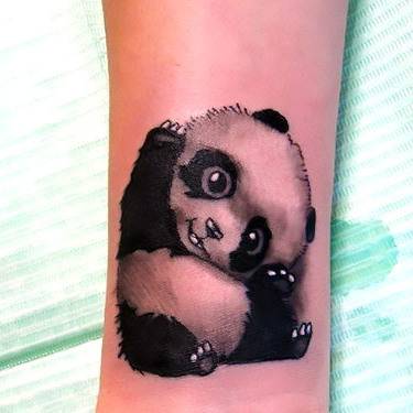 Pretty Little Panda Bear Tattoo