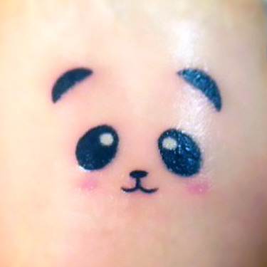 Tiny Sweet Panda Bear  Tattoo