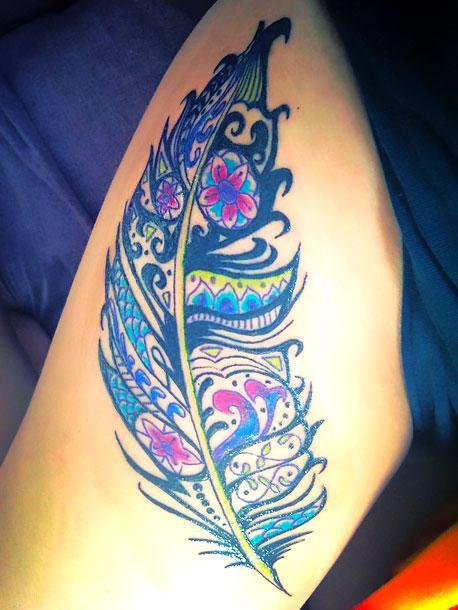 Beautiful Feather Tattoo Idea
