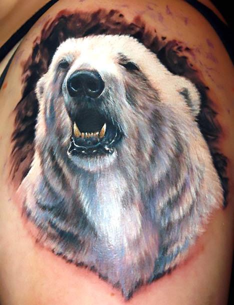 White Polar Bear Tattoo Idea