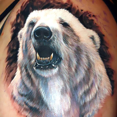 White Polar Bear Tattoo