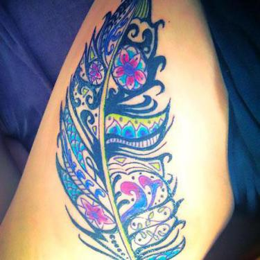 Beautiful Feather Tattoo