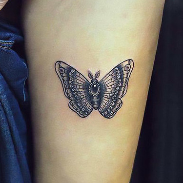 Butterfly on Leg Tattoo