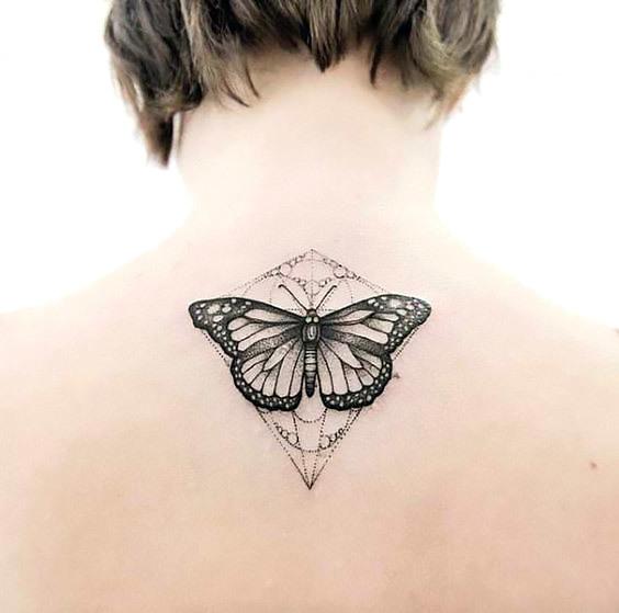 Butterfly Tattoo on Back Tattoo Idea