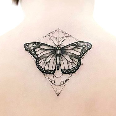 Butterfly Tattoo on Back Tattoo