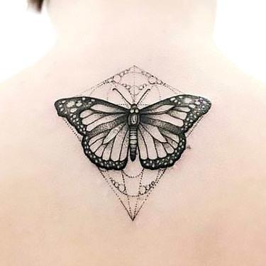 Butterfly Tattoo on Back Tattoo