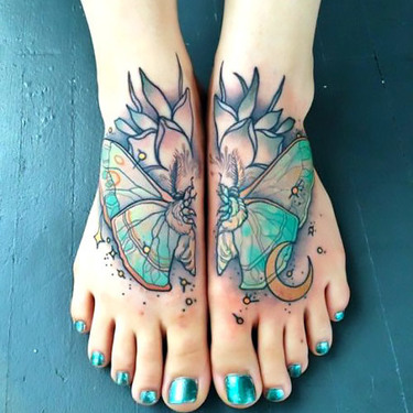 Butterfly Tattoo on Feet Tattoo