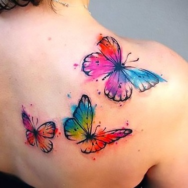 Butterfly Tattoos for Women on The Shoulder Tattoo